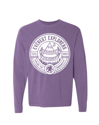 Everest, Long Sleeve Tee, Purple