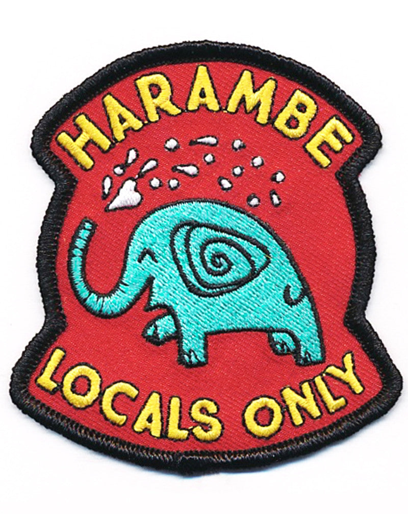 SALE, Harambe Locals Only, Very Nice Patch