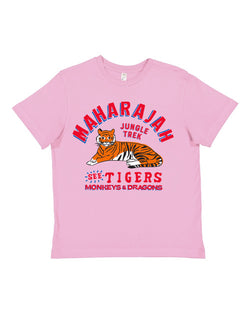 Maharajah Jungle Trek, KIDS Crew Neck Tee, Soft Pink