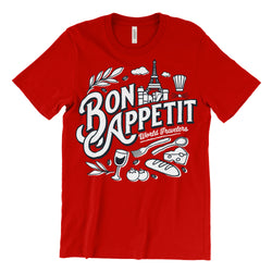 Bon Appétit, Crew Neck, Red