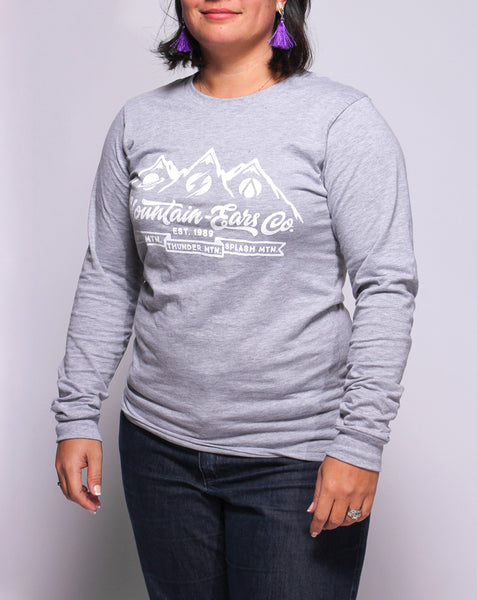 Mountain-Ears Co., Long Sleeve Tee, Space Grey