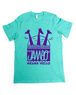 Jambo, Kids Crew Neck Tee, Sea Green