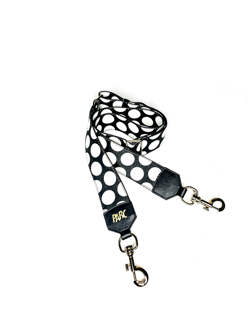 PARC Pack Crossbody Strap, Black Polka Dot