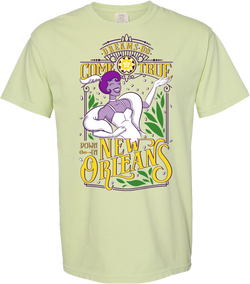 Tiana New Orleans, Crew Neck Tee, Lily Pad Green