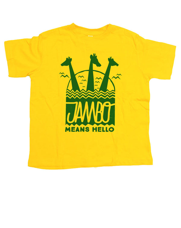 Jambo, Kids Crew Neck Tee, Yellow