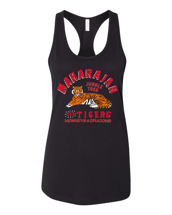 Maharajah Jungle Trek, Racerback Tank, Pitch Black