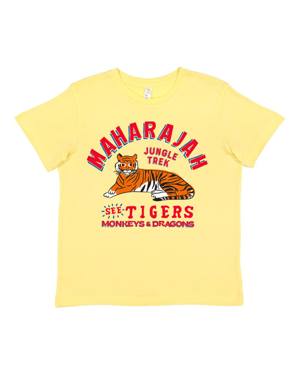 Maharajah Jungle Trek, KIDS Crew Neck Tee, Urgent Yellow