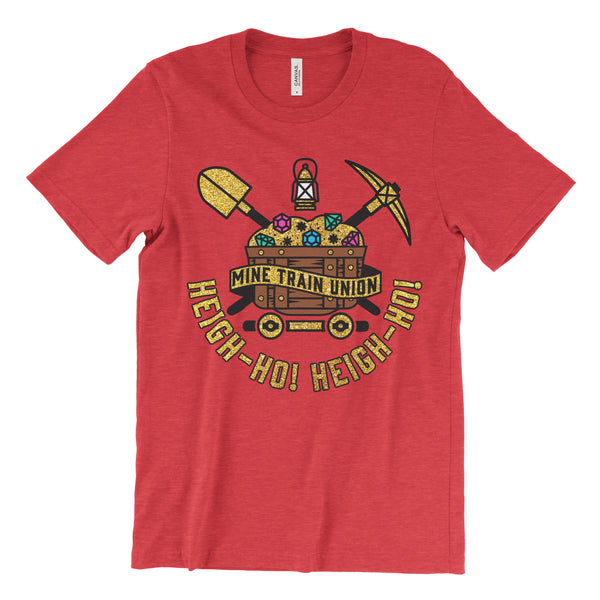 Mine Train Union, Crew Neck Tee, Ruby