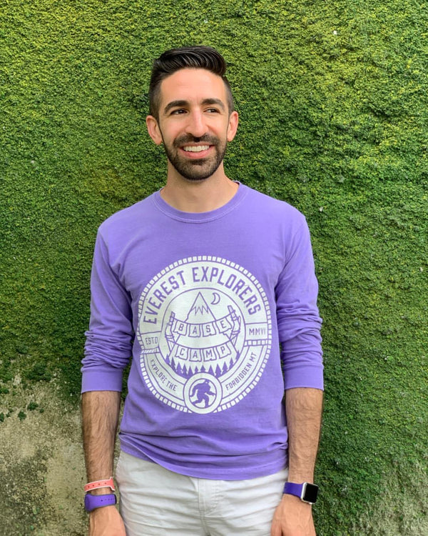 Everest, Long Sleeve Tee, Violet