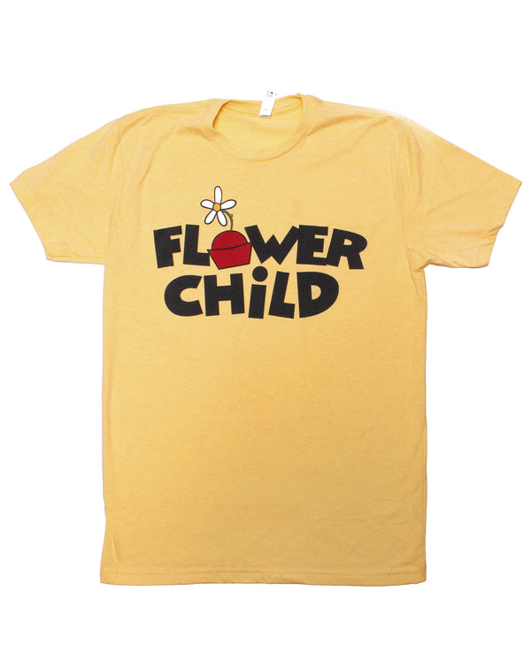 Flower Child, Crew Neck Tee, Yellow Daisy