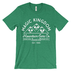 Mountain-Ears Co. Logo, Crew Neck Tee, Green