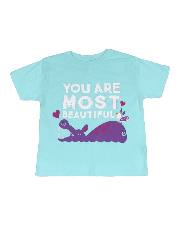 You Are Most Beautiful, Kids Crew Neck Tee