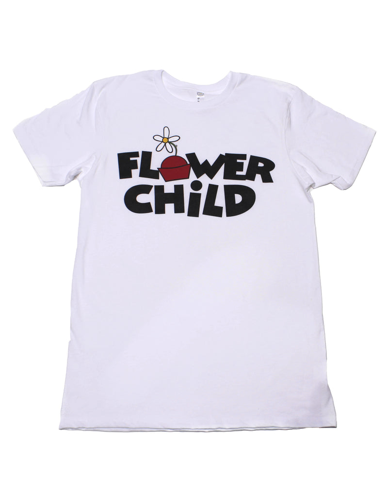 Flower Child, Crew Neck Tee, White Magnolia