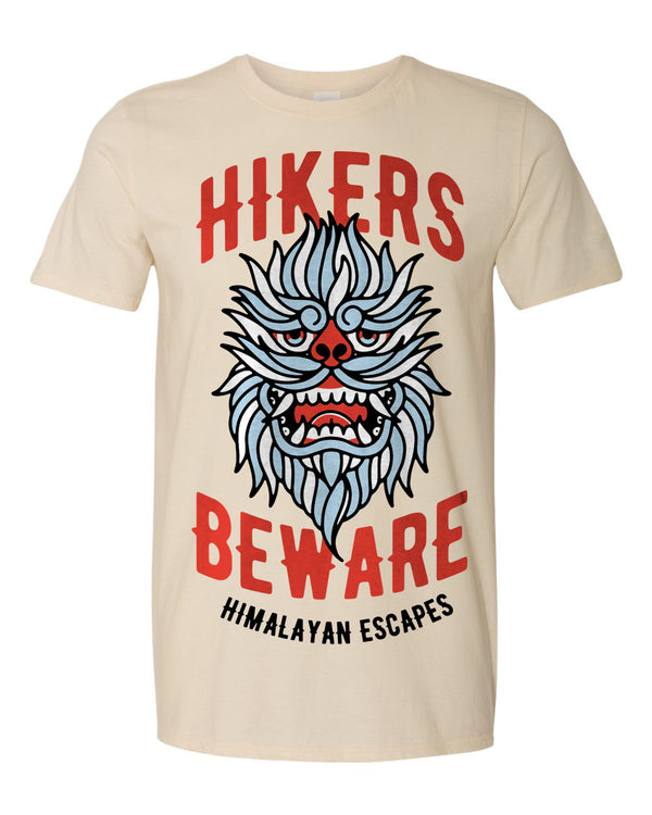 Everest Hikers Beware, Crew Neck Tee, Natural