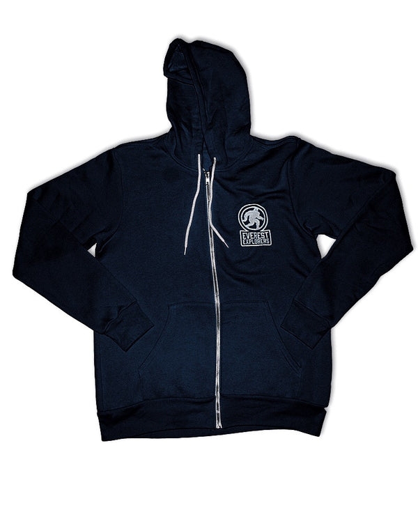 Everest, Full Zip Fleece Hoodie, Navy