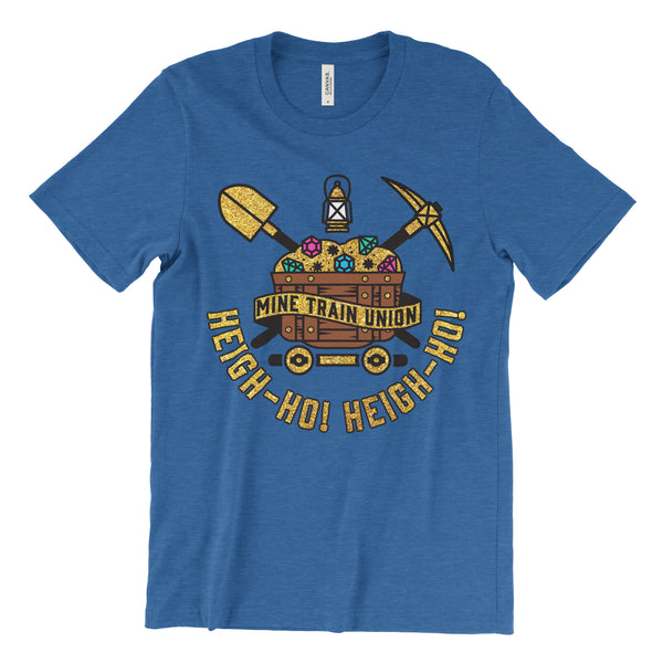 Mine Train Union, Kids, Crew Neck Tee, Sapphire