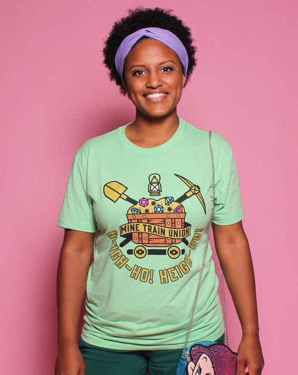 Mine Train Union, Crew Neck Tee, Peridot