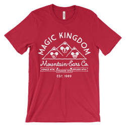 Mountain-Ears Co. Logo, Crew Neck Tee, Red