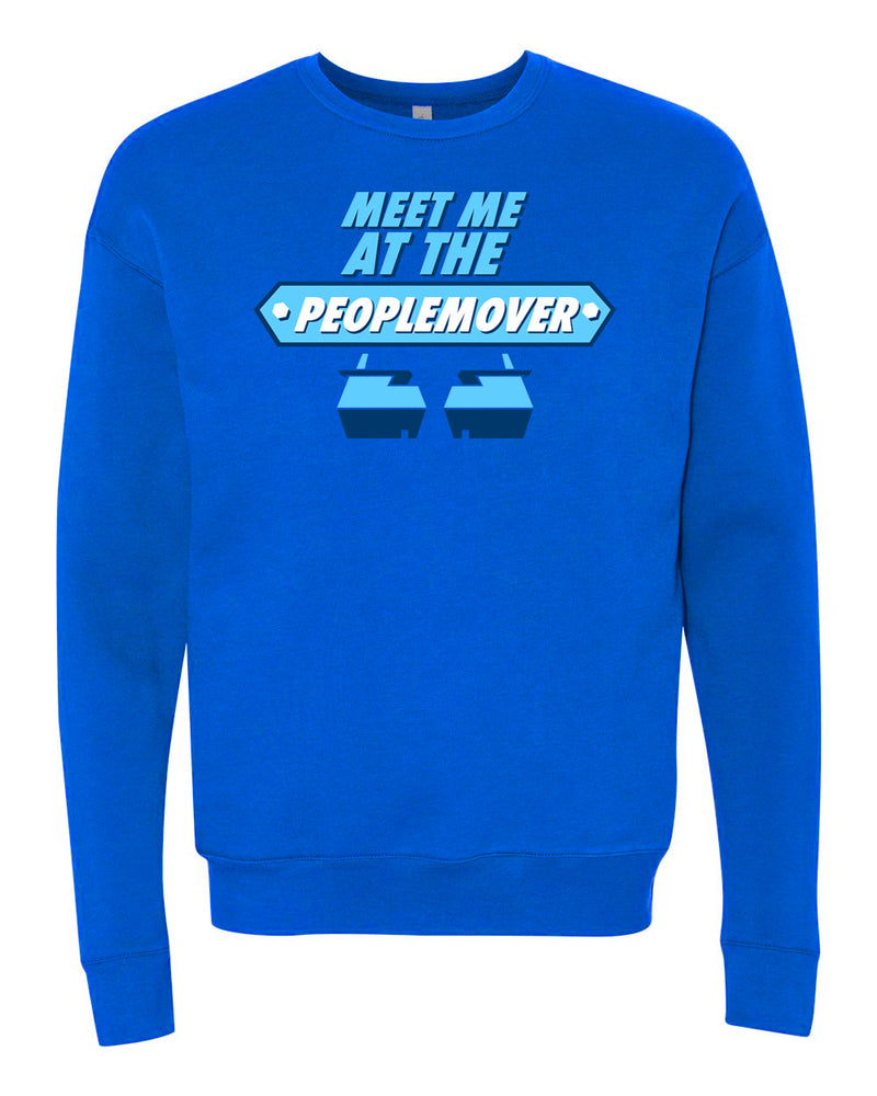People Mover, Crewneck Fleece Sweater, Future Blue