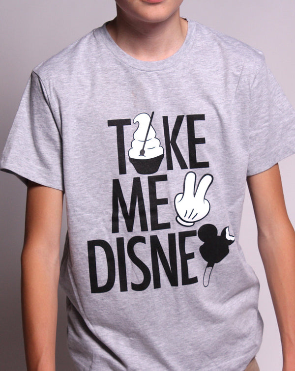 Take Me 2, Kids Crew Neck Tee, Grey