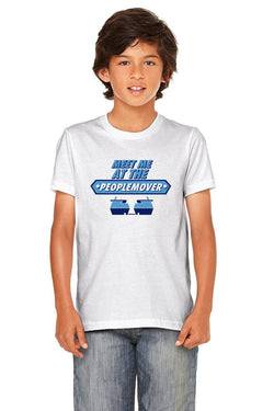 People Mover, Kids, Crew Neck Tee, White