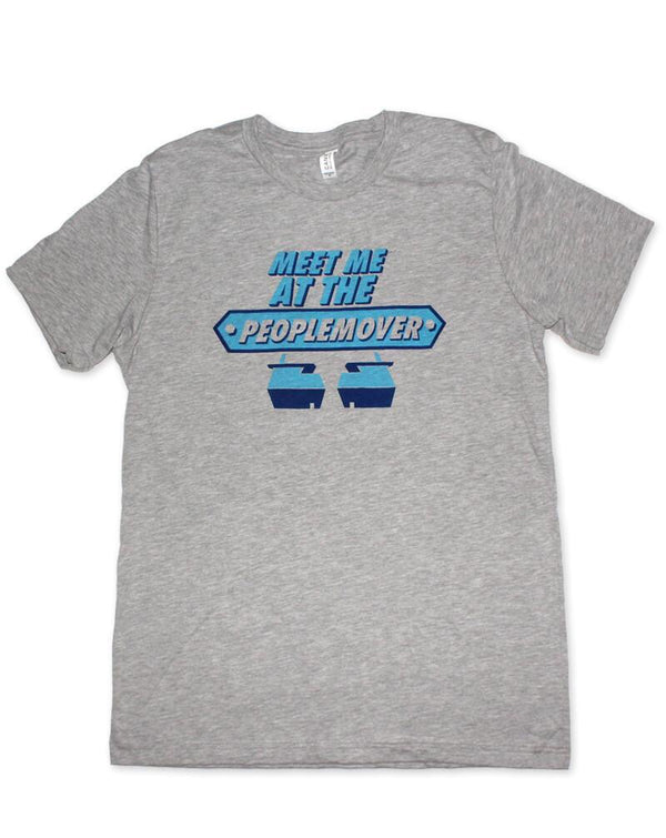 People Mover, Crew Neck Tee, Grey