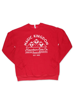 Mountain Ears Co., Pullover Fleece Sweatshirt, Red
