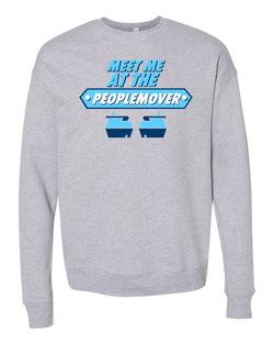 People Mover, Crewneck Fleece Sweater, Heather Grey
