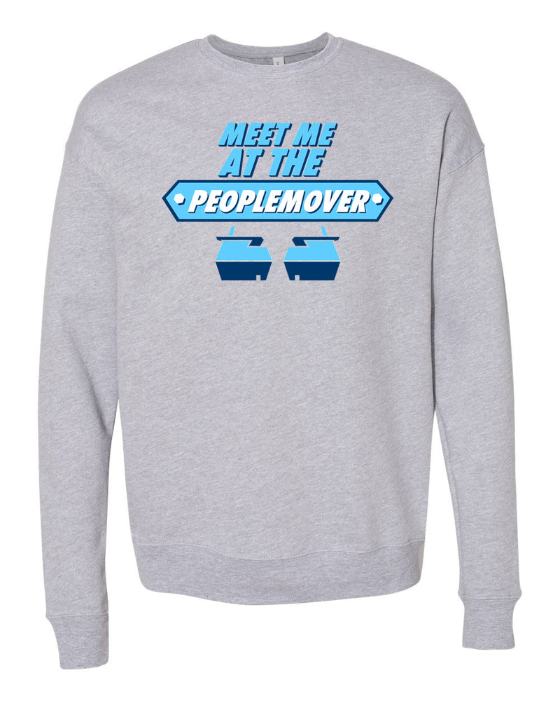 People Mover, Crewneck Fleece Sweatshirt, Heather Grey