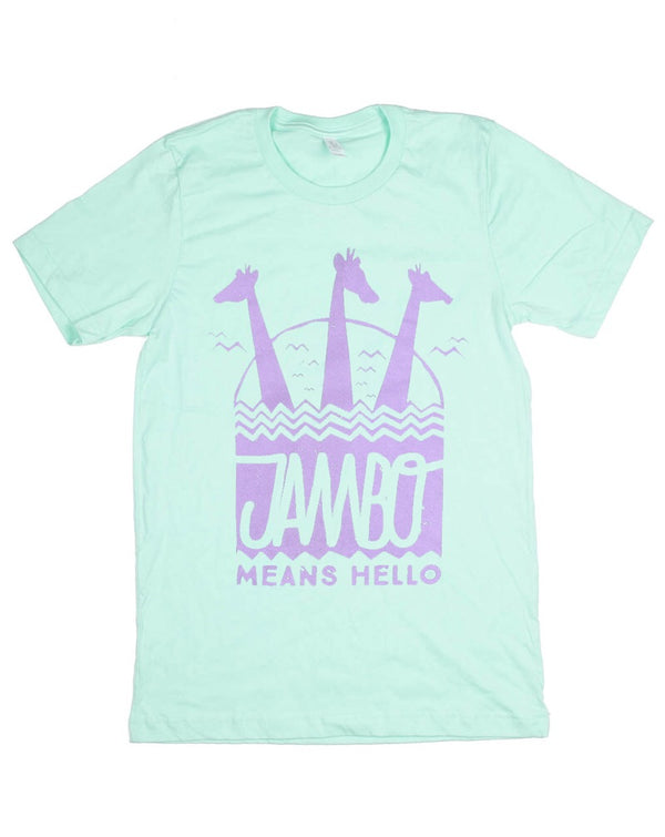 Jambo, Crew Neck Tee, Mint