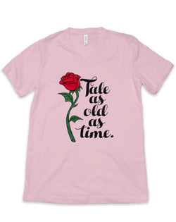 SALE, Tale as Old as Time, Women's Relaxed V Neck Tee