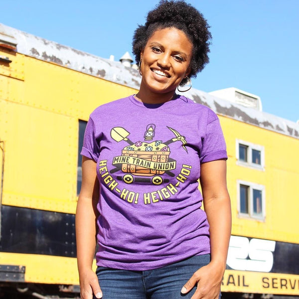Mine Train Union, Crew Neck Tee, Amethyst