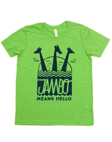 Jambo, Kids Crew Neck Tee, Key Lime