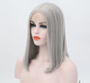 Natural Silver Medium Bob Lace Front Wig - Smart Wigs Brisbane QLD