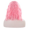 Baby Pink Short Curly Lace Front Wig - Smart Wigs Brisbane QLD
