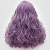 Natural looking medium purple long curly wig without fringe at Smart Wigs Perth WA Australia
