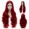 Red long curly wig without fringe sales at Smart Wigs Adelaide