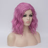 Light pink middle part medium curly wig - Smart Wigs Adelaide AUSTRALIA