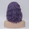 Dark Purple medium length curly wig without fringe - Smart Wigs Sydney NSW