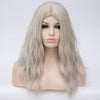 Silver long curly wig without fringe at Smart Wigs Melbourne VIC