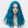 Dark blue curly wig without fringe best quality at Smart Wigs Perth WA