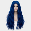 Black blue long curly wig without fringe - Smart Wigs Sydney NSW
