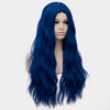 Black blue long curly wig without fringe - Smart Wigs Sydney NSW Australia