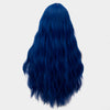 Black blue long curly wig without fringe - Smart Wigs Sydney Australia