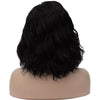Natural black medium length curly wig without fringe by Smart Wigs Brisbane Australia