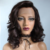 Natural Dark Brown Short Curly Lace Front Wig - Smart Wigs Adelaide SA