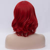 Natural red medium curly side fringe wig by Smart Wigs Sydney NSW