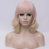 Natural pinky blonde curly side fringe wig by Smart Wigs Sydney NSW