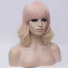 Natural pinky blonde curly side fringe wig by Smart Wigs Melbourne VIC