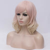 Natural pinky blonde curly side fringe wig by Smart Wigs Adelaide SA